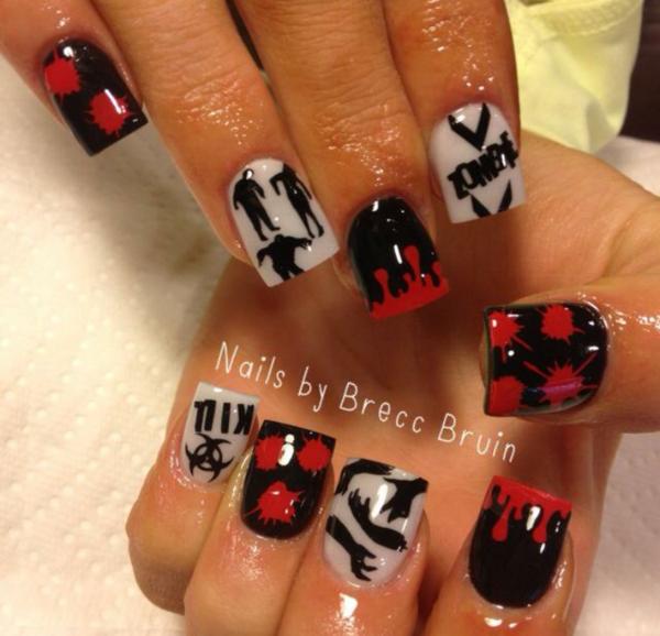 Red Blood Drip Nail Decal Pinterest Nail Decals Drip Nails