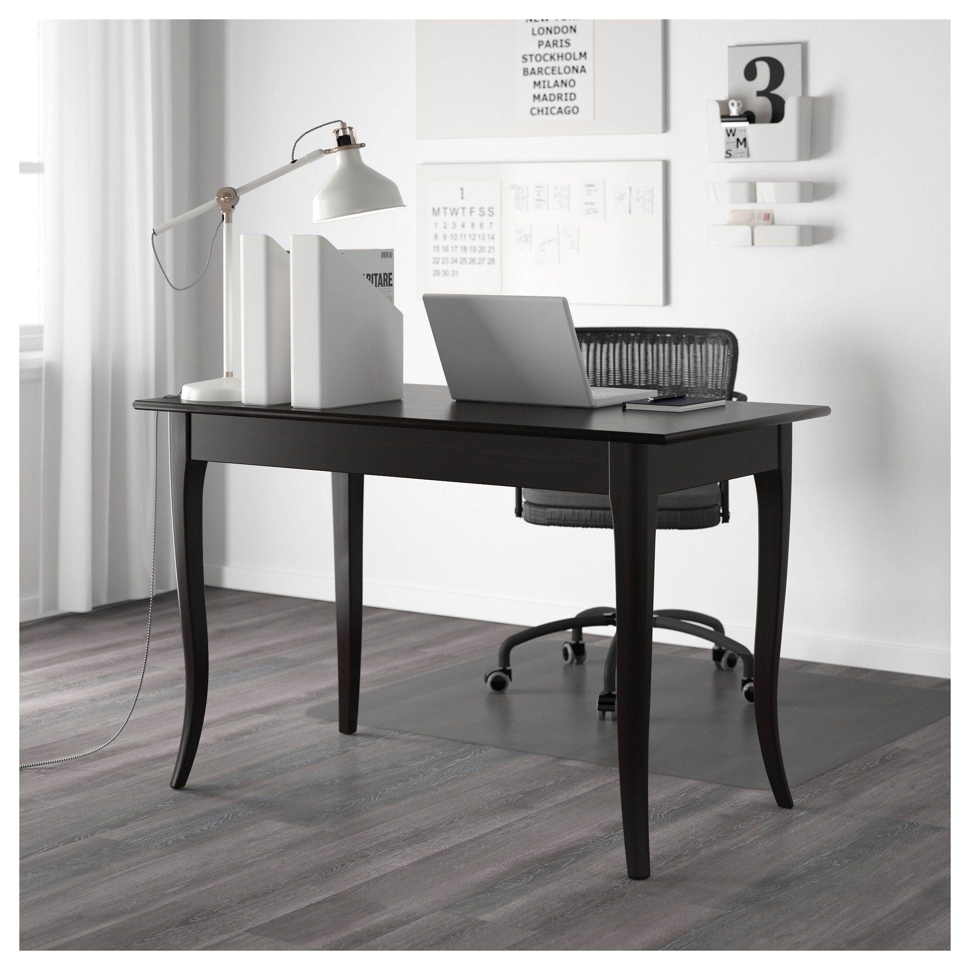 all modern in design setup style and office computer ikea desk