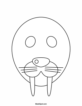 seal mask coloring pages - photo#6