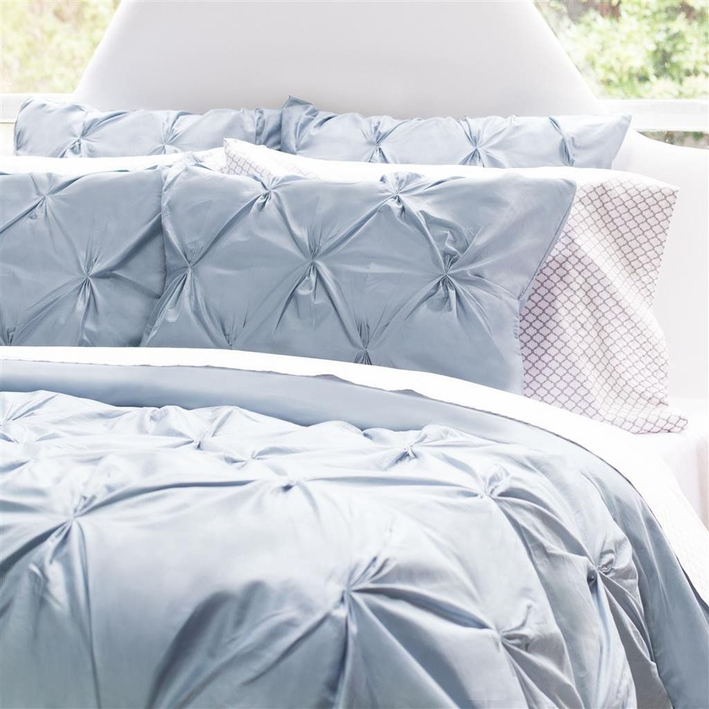 Bedroom Inspiration And Bedding Decor | The Valencia French Blue Pintuck  Duvet Cover | Crane And