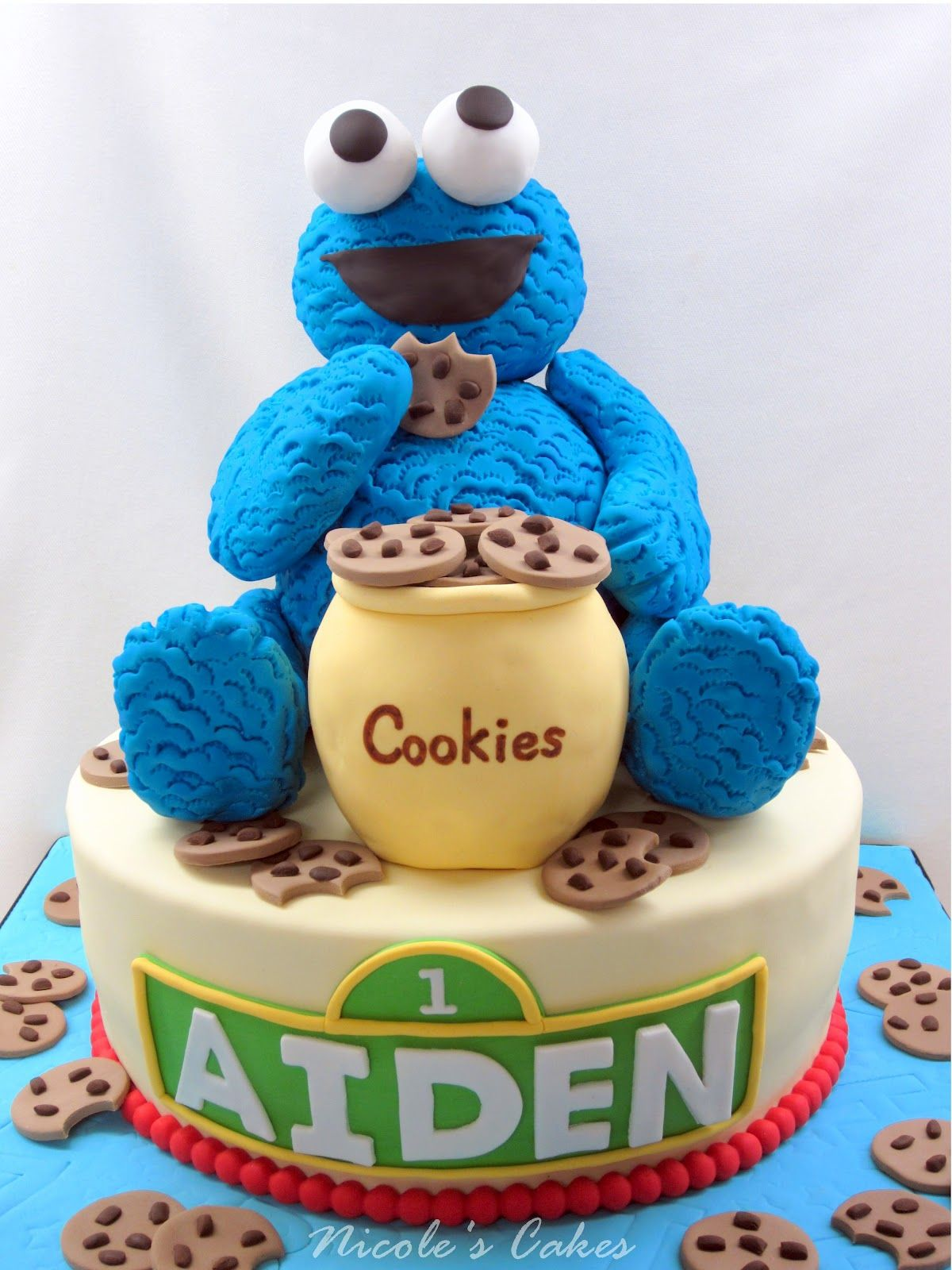 cookie monster birthday cake decorations