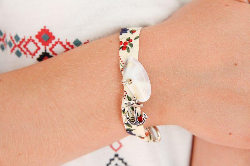 diy bracelet coquillage