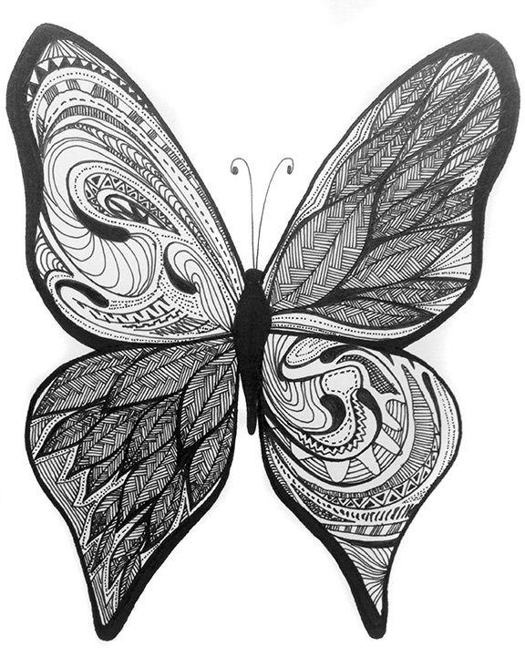 Mariposa No. 2 Patterns, Sharpieart, Sharpie, Sharpieartrd
