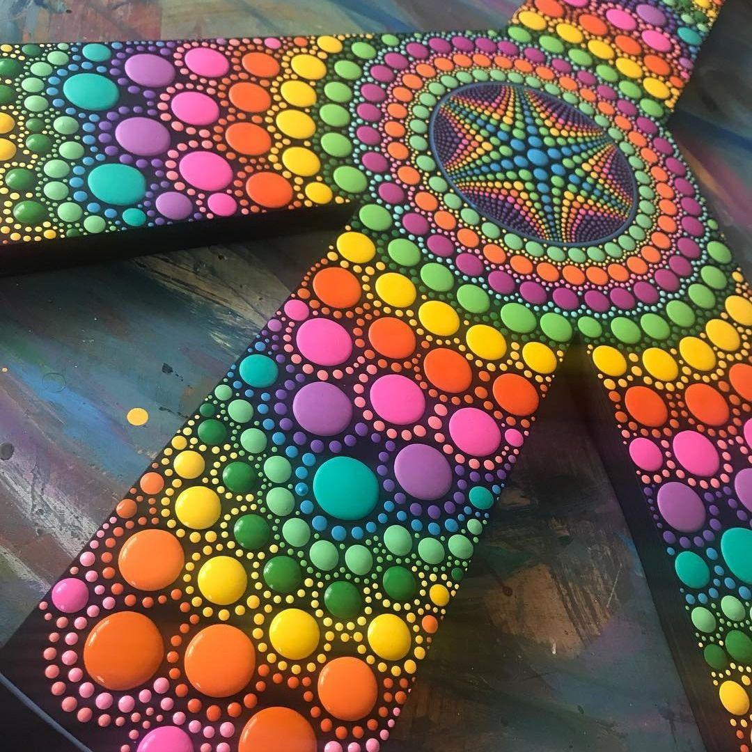 Brandon Expresses Artistic Ideas Through His Unique Dot Art Dots Art Dot Painting Art
