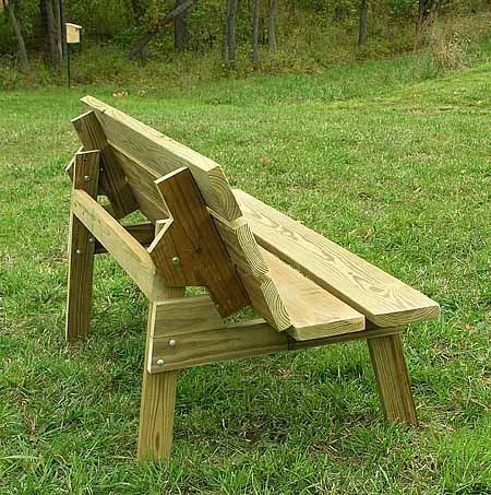 Flip top bench table plans Are you choosing between a picnic table and bench for your outdoor space Why not have both with this flip top bench table DIY Convertible Picnic Table Pins about DIY tables benches and other outside furniture hand picked by Porch Swing love it and the fact that its made from an old table top and door More May 14 2008 J Now move the table top to the bench position We recently built a deck extension and your plan for this flip top table will be a perfect I had this…