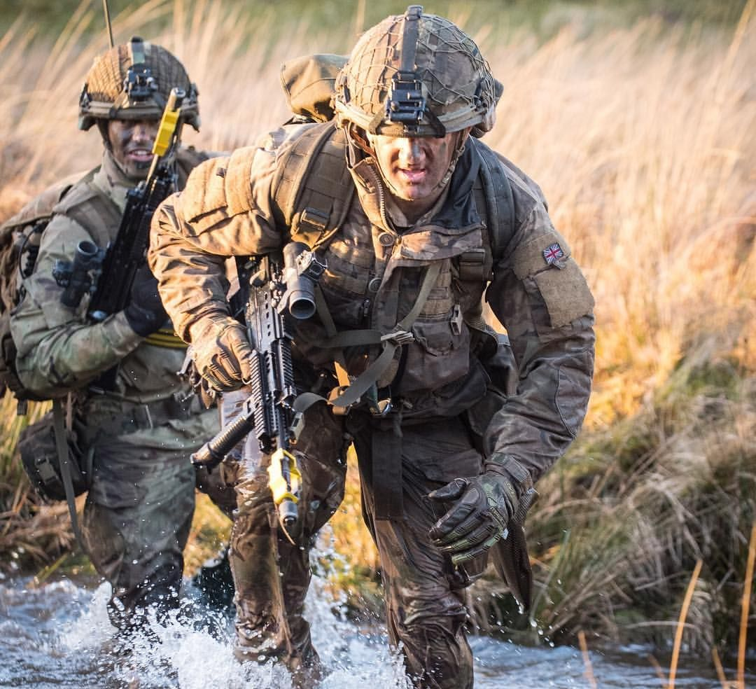 Soldiers From 7 Para RHA 7th Parachute Regiment Royal Horse Artillery Carryout Their Demanding Promotion Course In Sennybridge Wales Which Is Designed