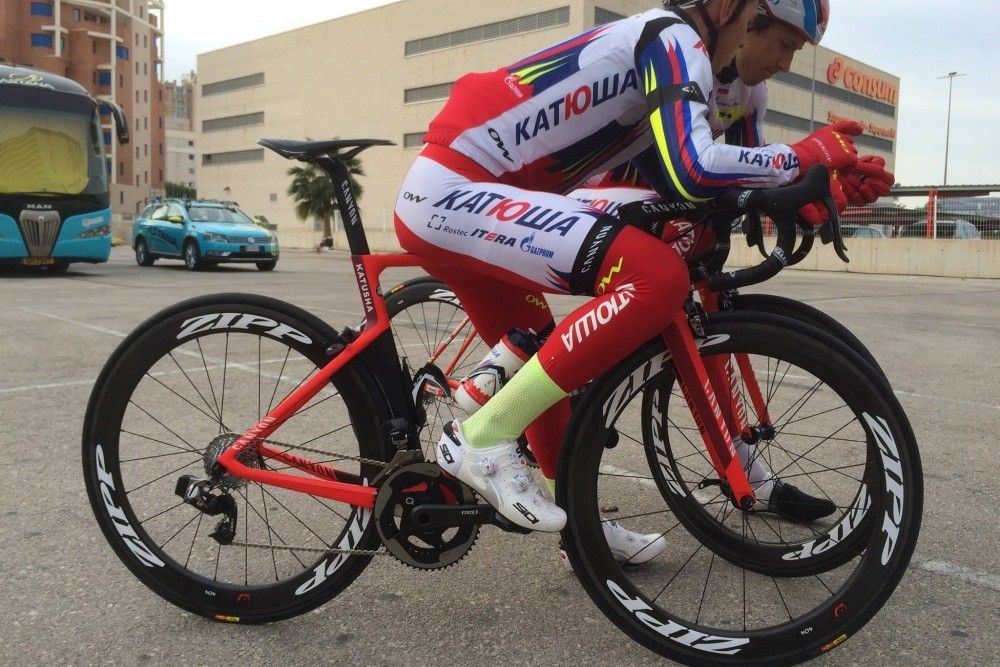Spotted Katusha Rides Sram Etap At Training Camp