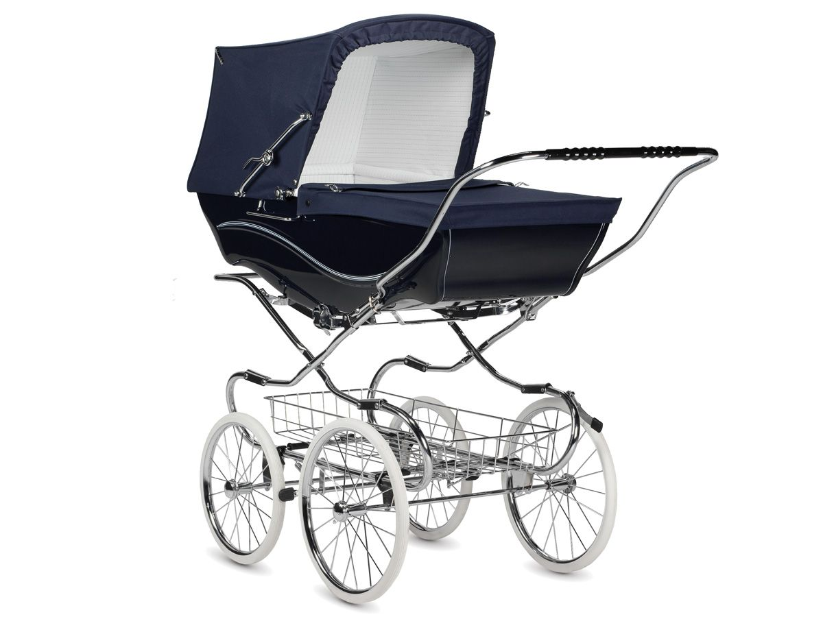Best Pushchairs Ever Navy Kensington Hand Made Traditional Pram From Silver