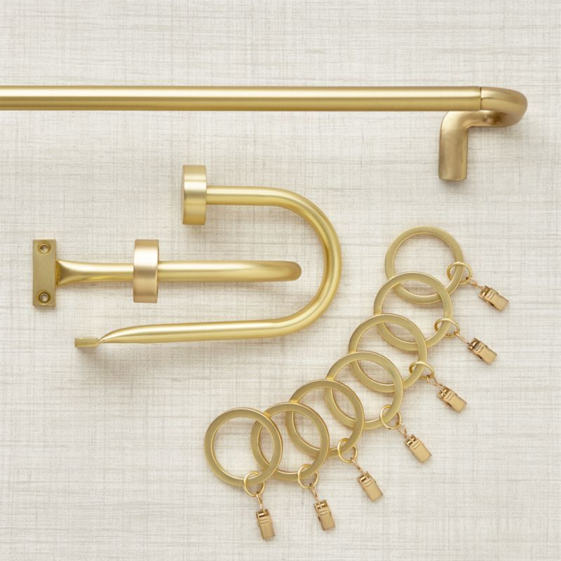 Shop Room Darkening Invisible Rod Brass Curtain Hardware This