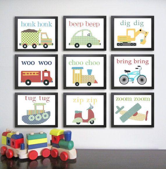 PICK+ANY+SIX++Nursery+Art+Print+Children's+Print++door+justbunch,+$78.00