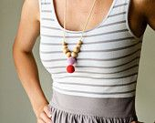 Etno Mama Nursing Necklace by KangarooCare - Choose Your Button and Bead Color. $12,00, via Etsy.