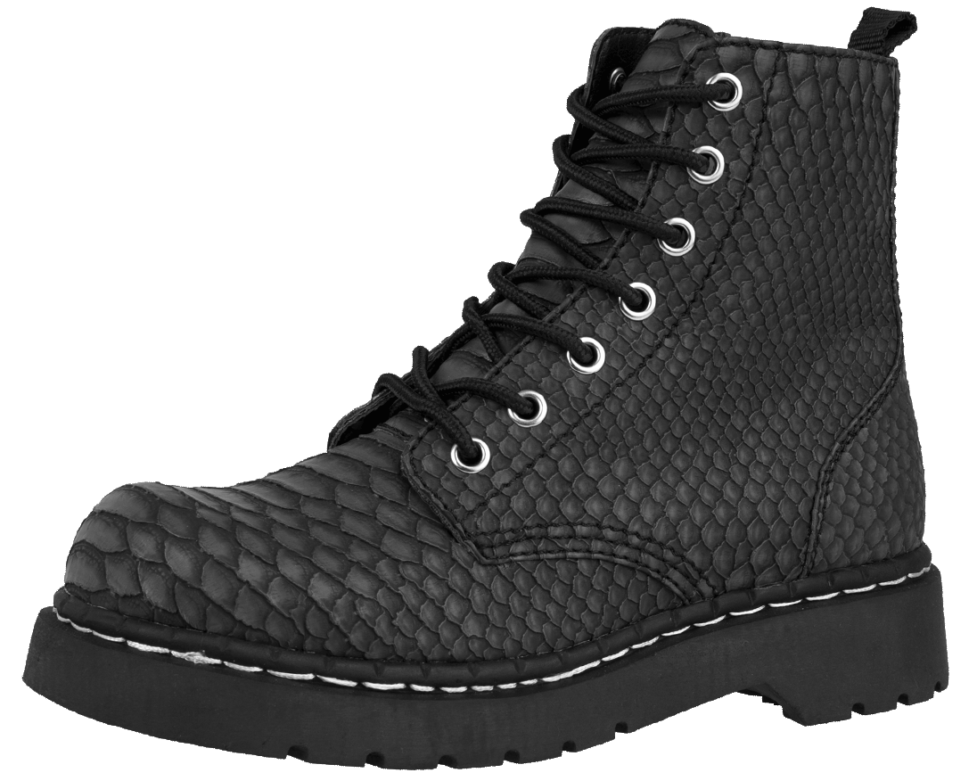 Vegan Dragon Skin Anarchic Boots Embossed Boots Boots Vegan Leather Boots