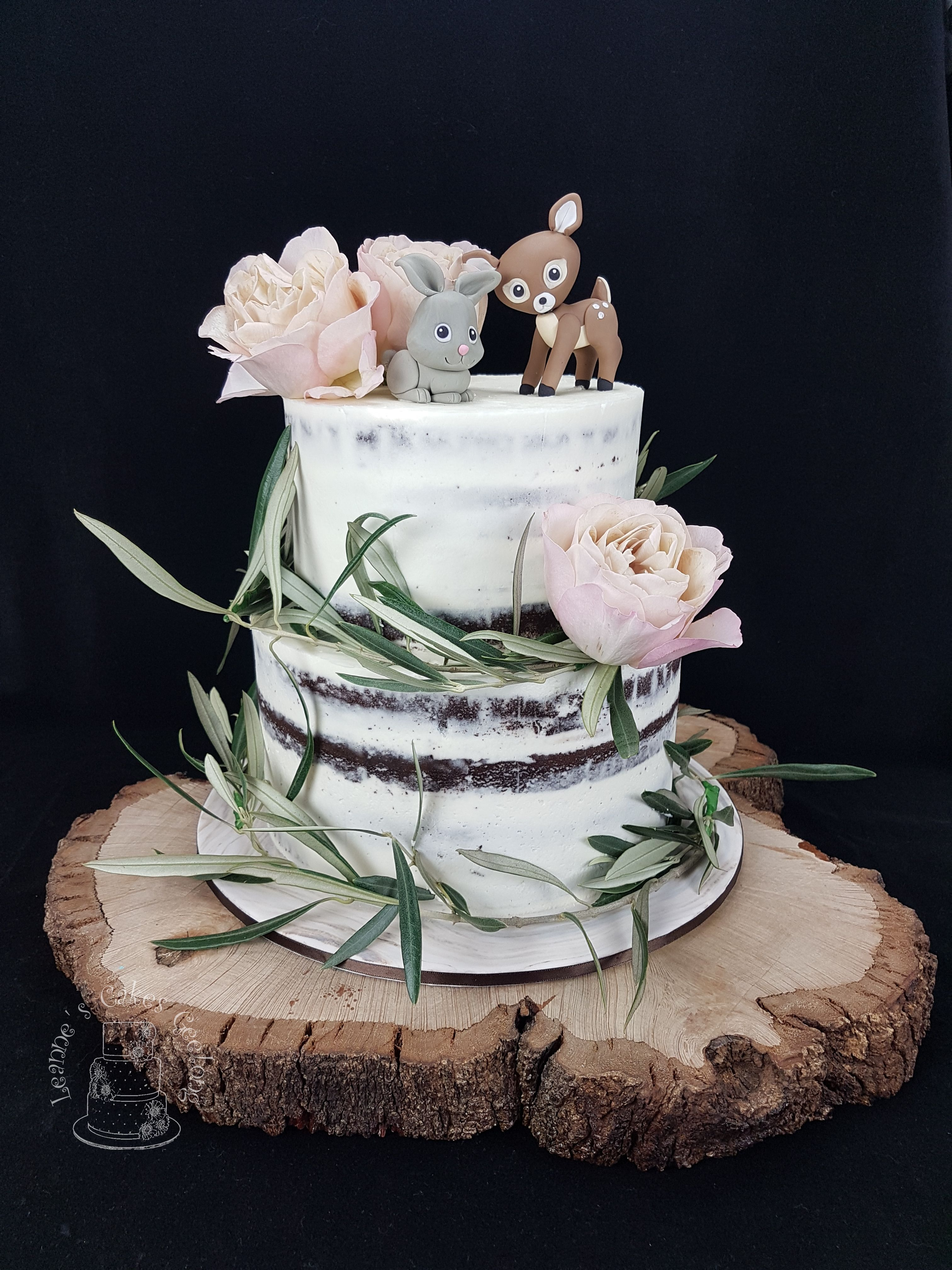 A Semi-Naked Chocolate Cake Made To Suit A Woodland Themed -8026