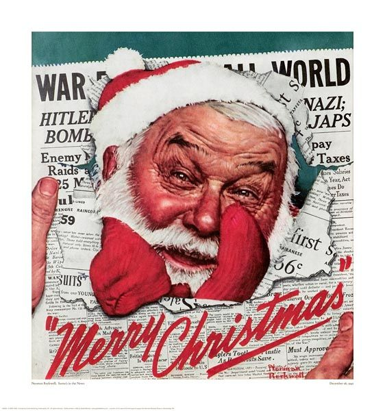 Norman Rockwell Santa's in the News