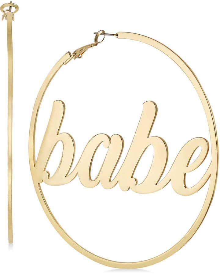 ab679a2f7ff6e Thalia Sodi Gold-Tone Babe Extra Large Hoop Earrings in 2019 ...