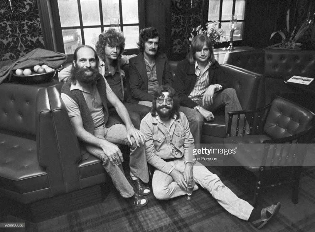 British Rock Group Moody Blues Copenhagen Denmark 1973 L R Mike