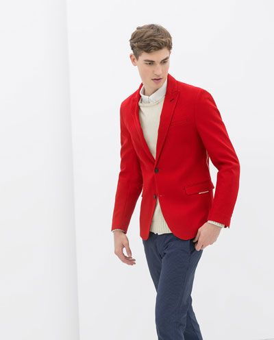 Estructura Blazer Roja Men Blazer Blazers For Zara Y Fashion dqtdB5