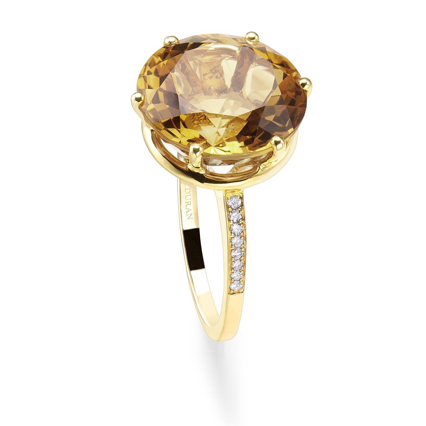 74d1b6a82406 Anillo Durán de la colección Big Stones. Oro amarillo