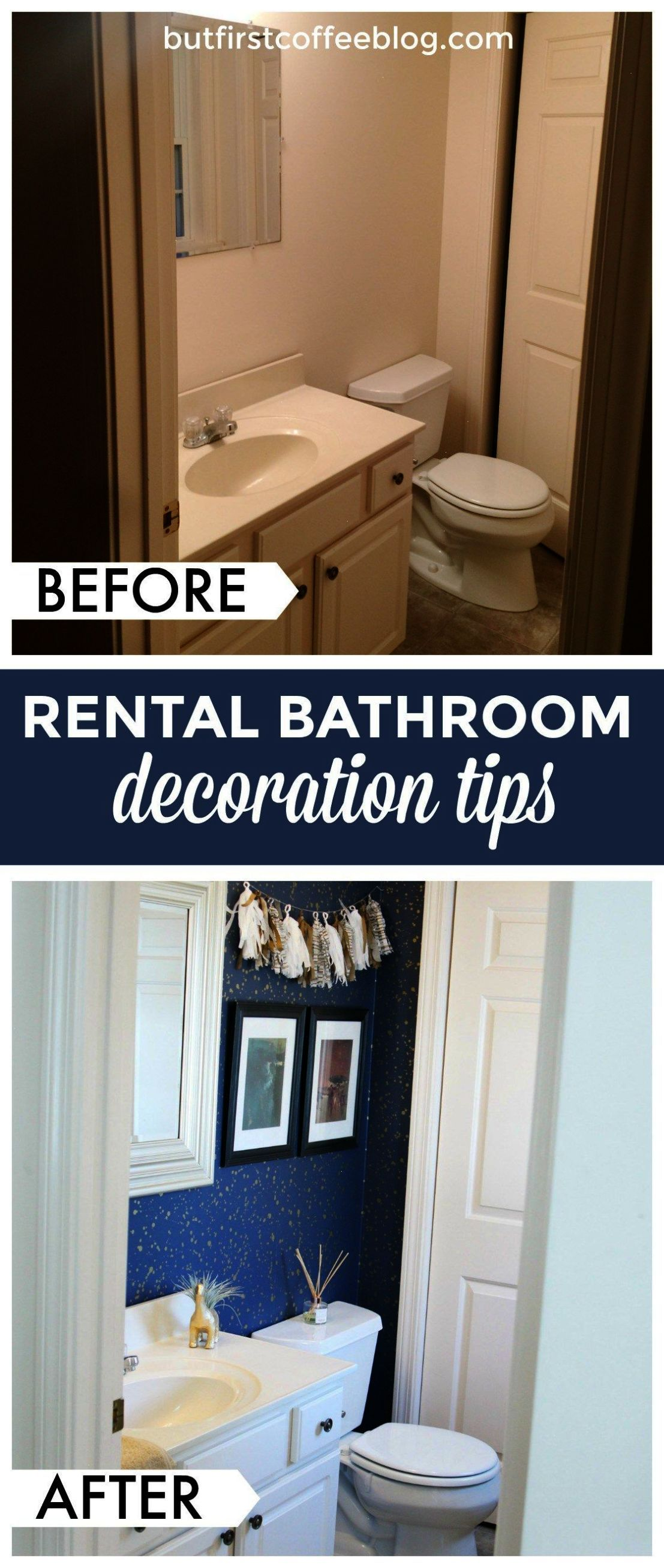 Guest Bathroom Makeover - Rental Decor Tips