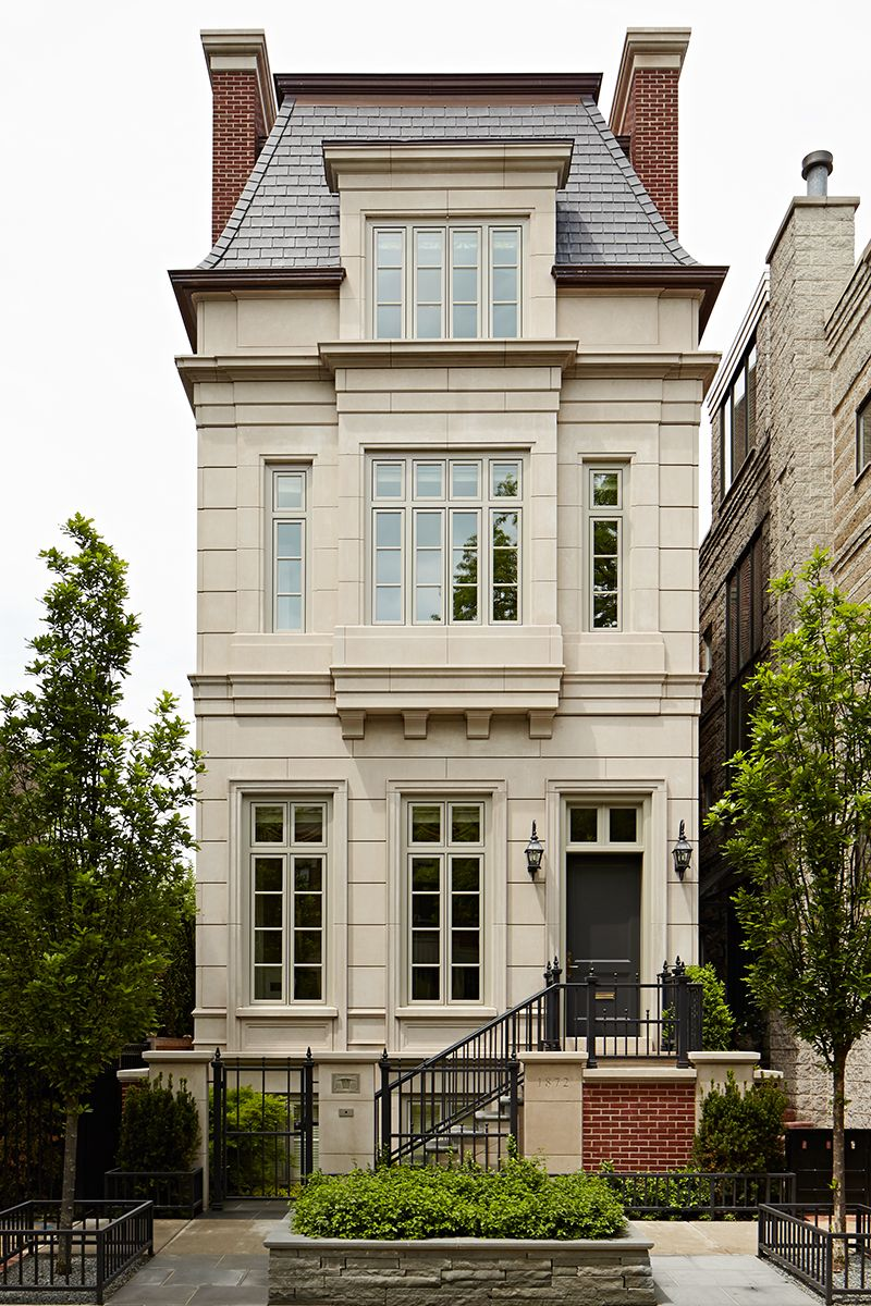 Vintagehome via pin by judith peacock on antique meets for Townhouse exterior design