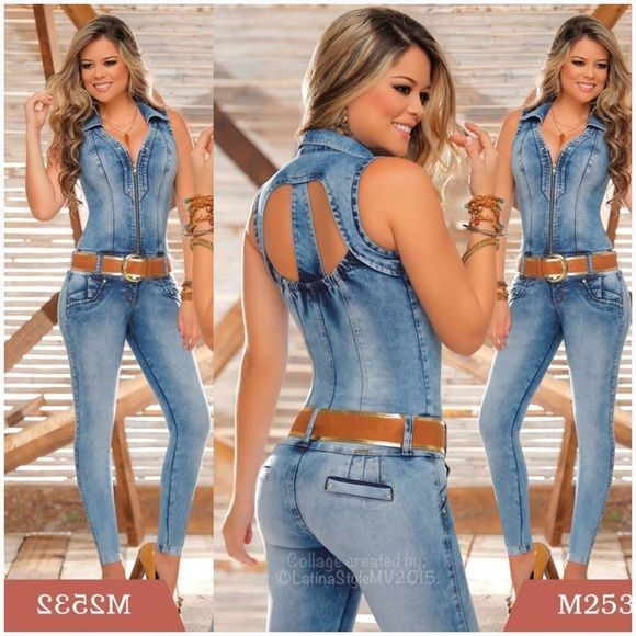 b5c1d281b26 💖Stunning Jumpsuit💖 🇨🇴Sexy Colombian butt lift   tummy tuck Jumpsuit🇨🇴  Excellent quality ! stretchy denim material. Sizes 1-3-5-7-9-11USA Unique  ...