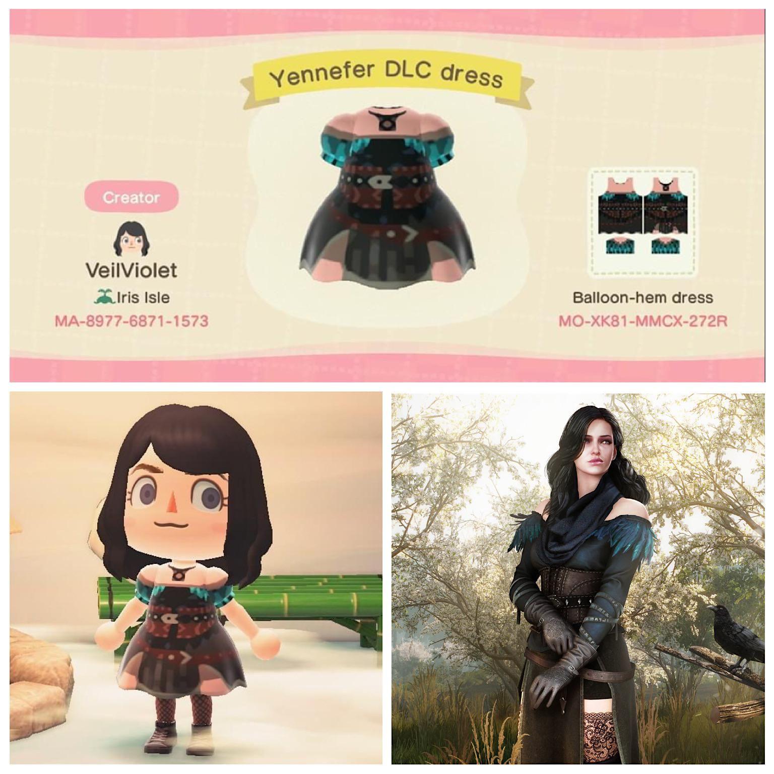 Acnh witcher 3 yennefer dlc dress by ufuzzygummybunny on