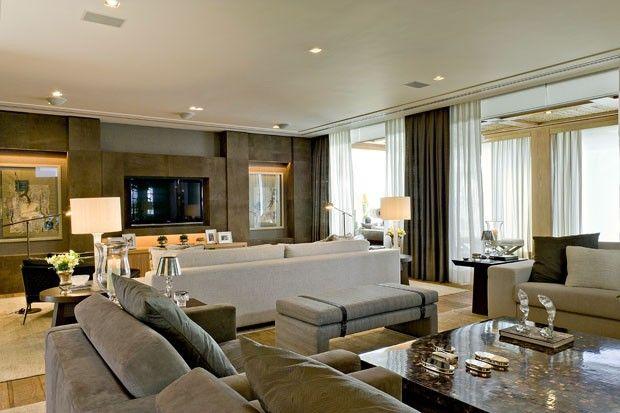 D cor do dia s marrons living rooms room and lobby lounge - Decoradora de interiores ...