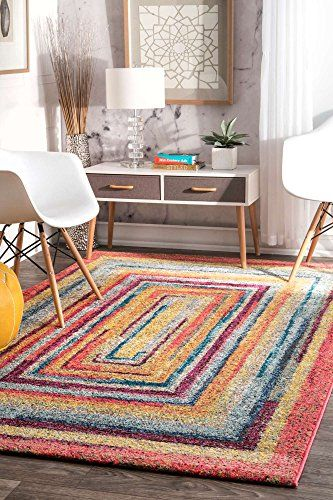 Modern Area Rug Contemporary Colorful Geometric Xl Large Rugs 9x12 Vivid Colors Living Area Bedroom Kitchen Soft Floor Mat Kids Rugs Yellow Area Rugs Area Rugs