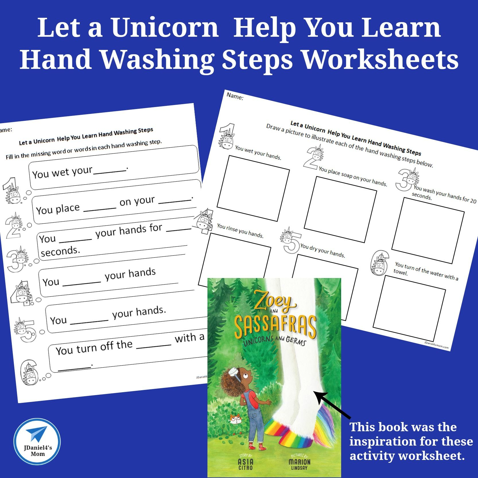 Let A Unicorn Help You Learn Hand Washing Steps Worksheets