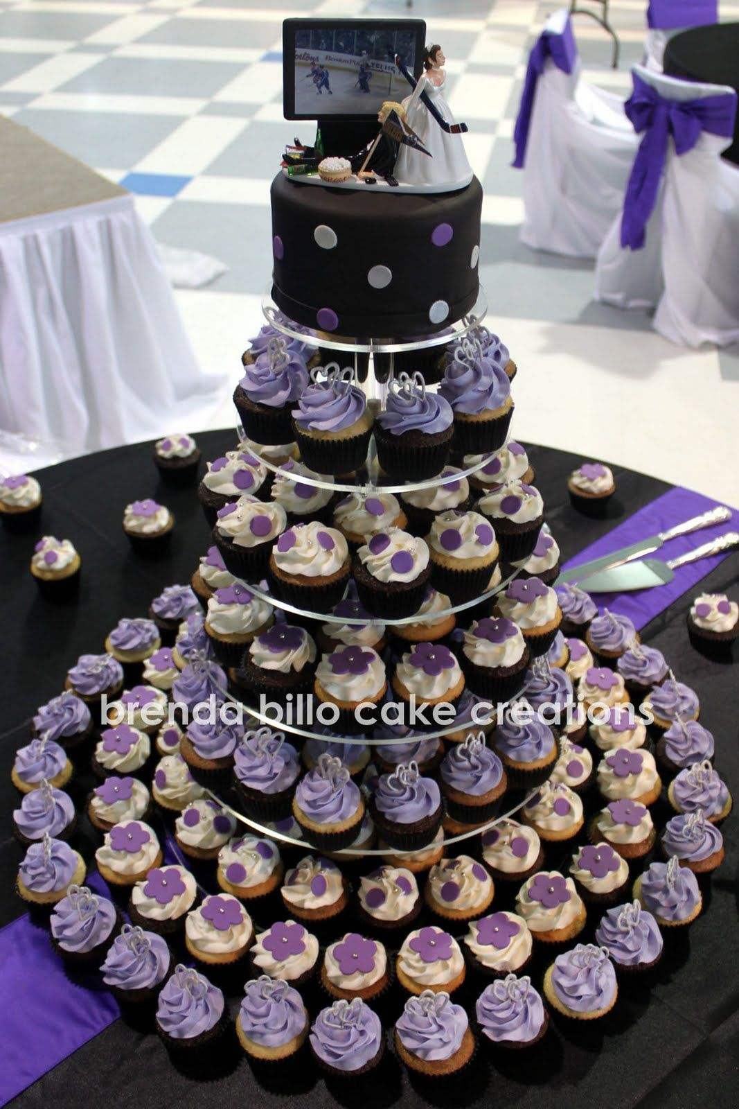 wedding, purple, black - Google Search Wedding Cupcakes Tier ...