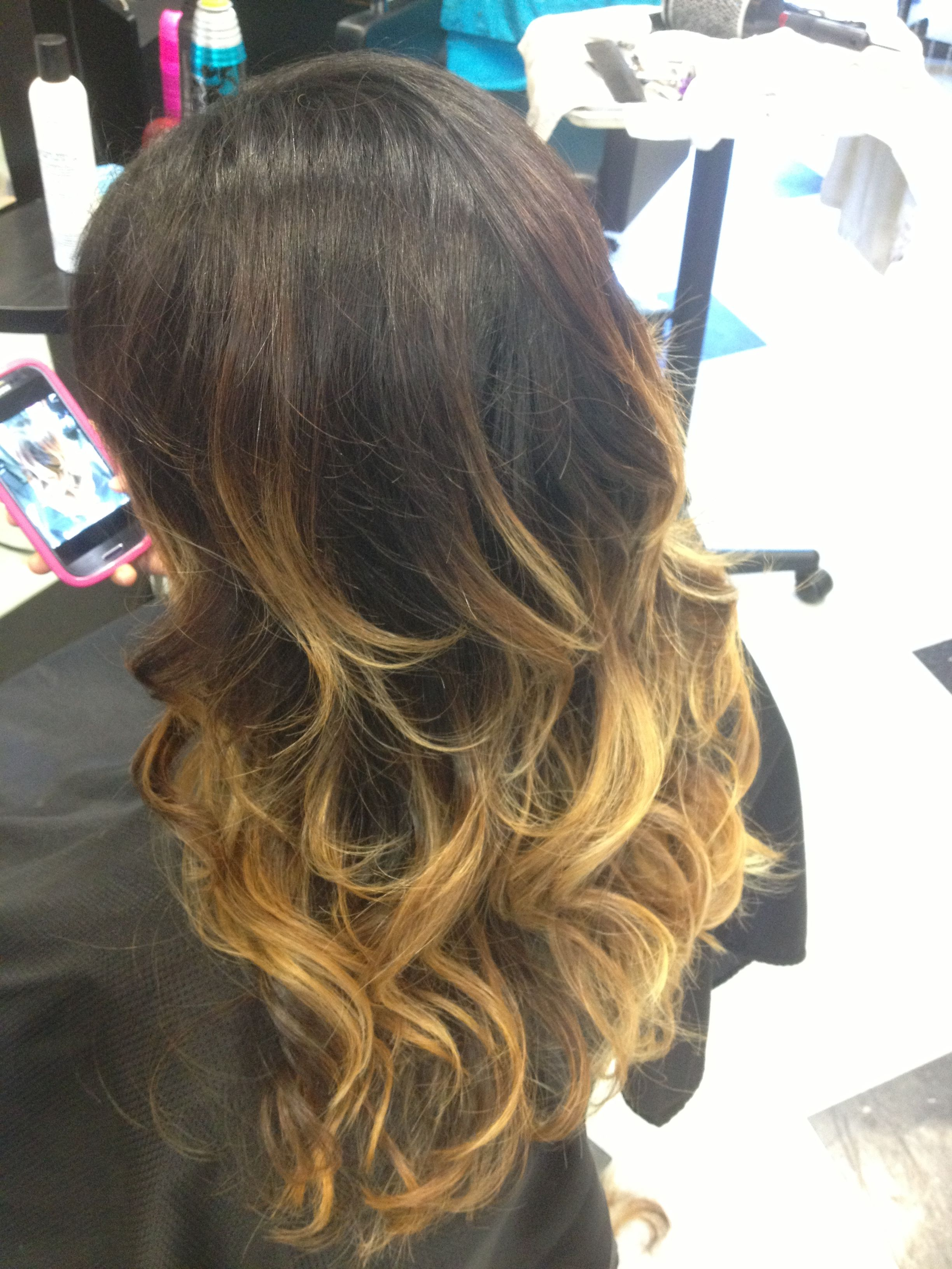 Chocolate Brown To Blonde Ombre Hair By Ambre Rose Hair Hair