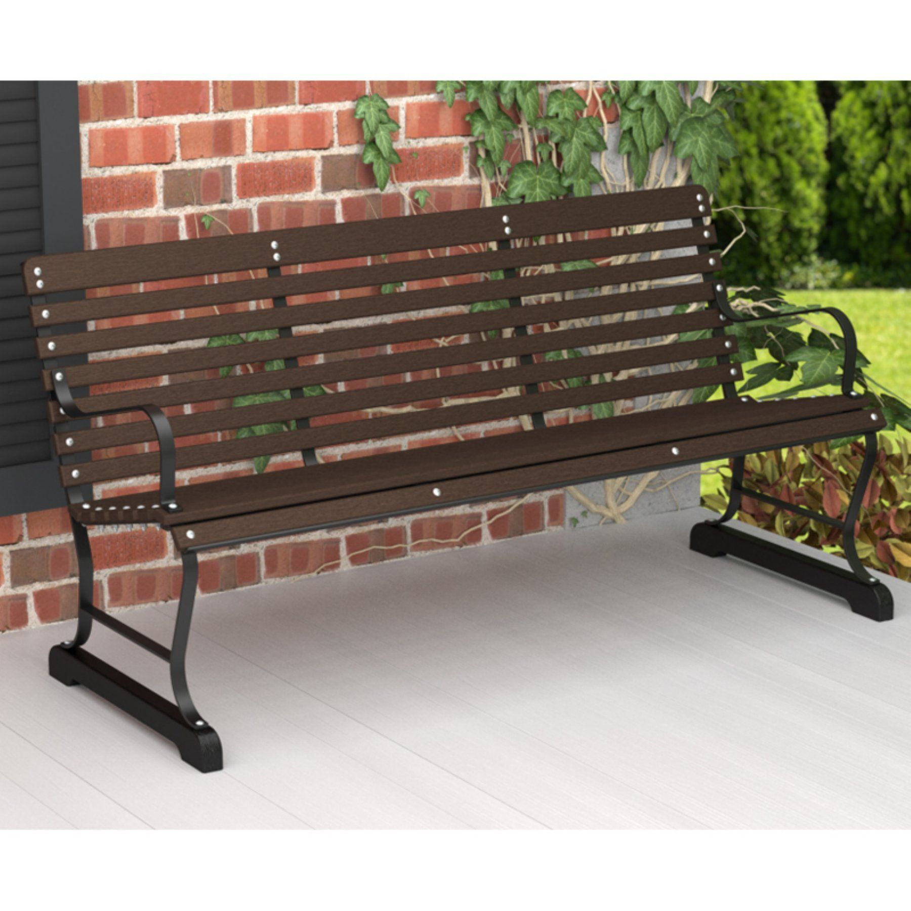 Astonishing Outdoor Polywooda Ivy Terrace Recycled Plastic 5 Ft Bench Ncnpc Chair Design For Home Ncnpcorg