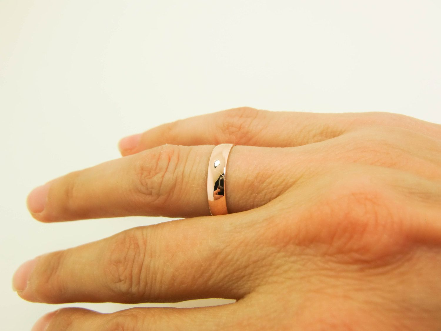 14 Karat Rose Gold Ring Pure 14K Rose Gold Band 4X1mm Pink Gold