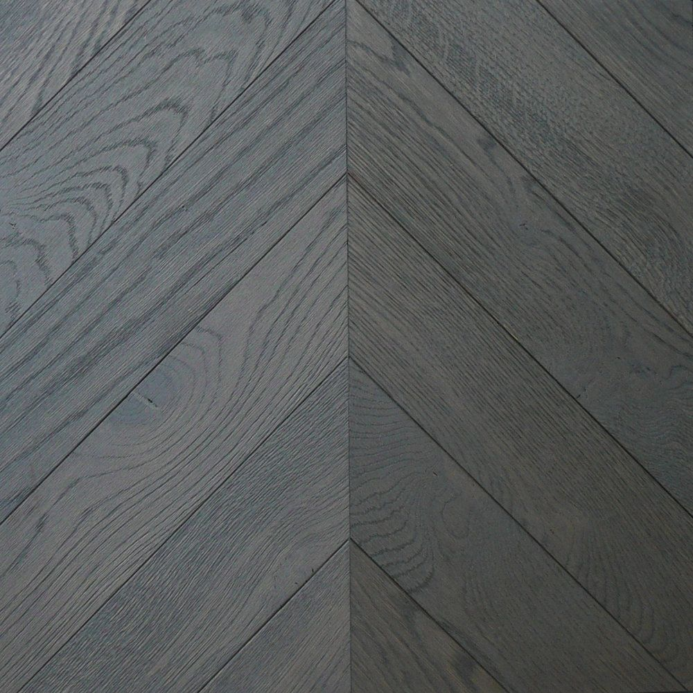 Grey Chevron Parquet Wood Flooring In Scotland