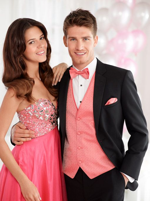 Prom Tuxedo - Pink - Coral | Jean Yves | Prom Tux Inspo | Pinterest ...