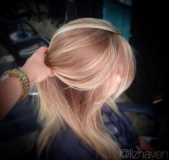 Natürliche Erdbeere Blonde Haarfarbe #blondehair