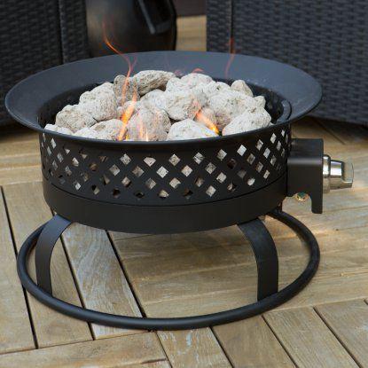 Bond 18 5 In Portable Propane Campfire Fire Pit Dark Bronze Propane Fire Pit Portable Propane Fire Pit Round Propane Fire Pit