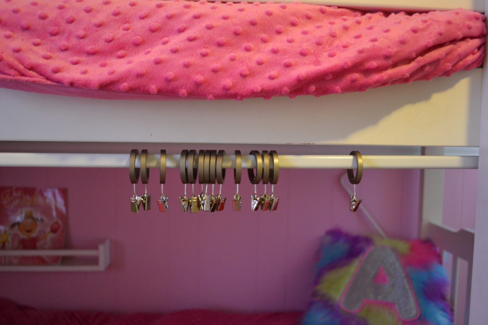 Bunkbeds With Bottom Bunk Tent Mount Your Tension Rod To The Bunk