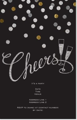 Vistaprint New Years Eve Invitations Cocktail Party Invitation Party Invite Template