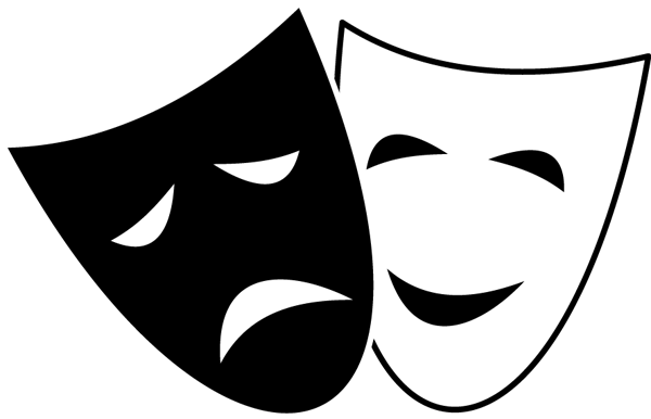 A Great Comedy And Tragedy Symbol Clip Art Theatre Masks Comedy And Tragedy Theatre Symbol