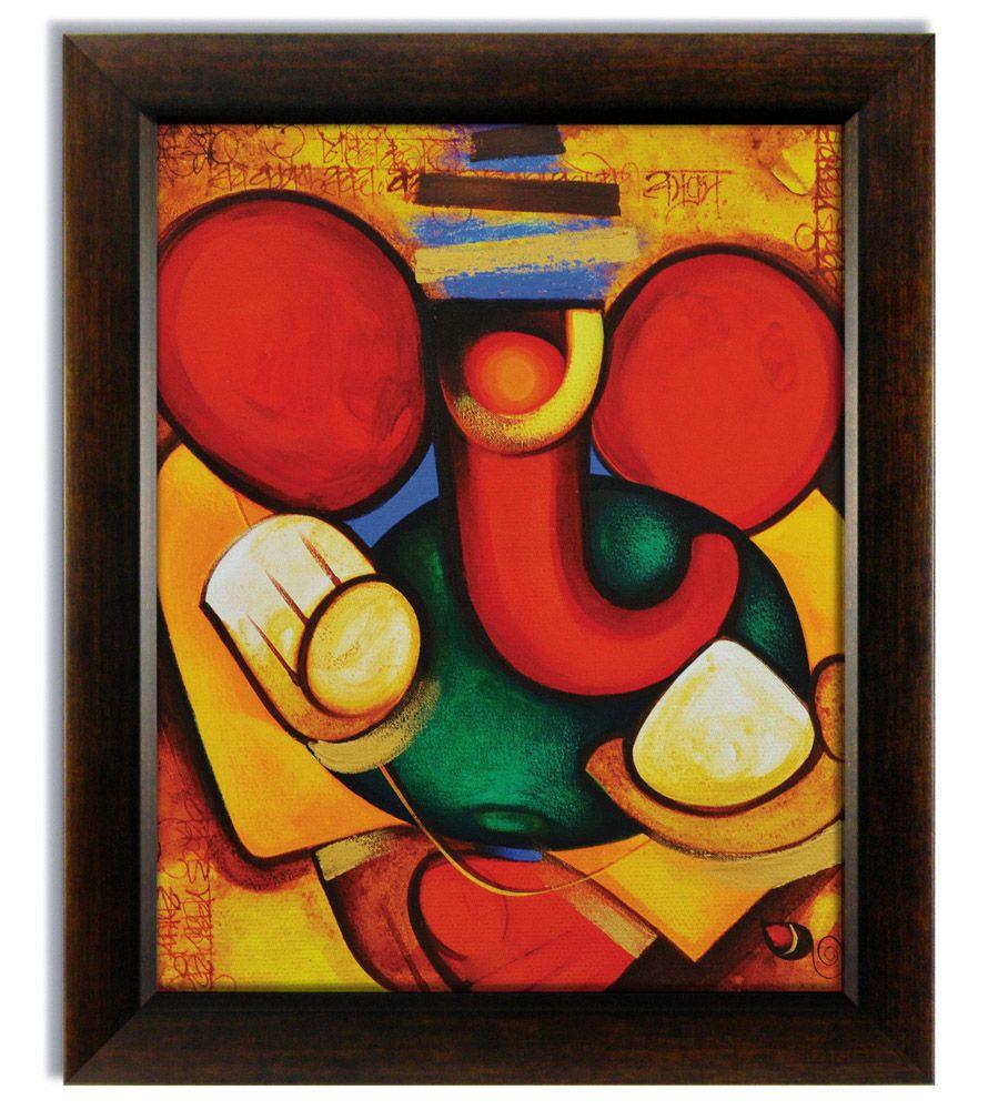 Ganesha Paintings Modern Art On Canvas Buy Stybuzz X3cb X3ecanvas Modern Art Ganesha Painting X3c Ganesha Painting Lord Ganesha Paintings Indian Art Paintings