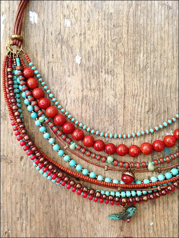 Hey, I found this really awesome Etsy listing at https://www.etsy.com/listing/121520849/beads-necklace-with-coral-turquoise-and