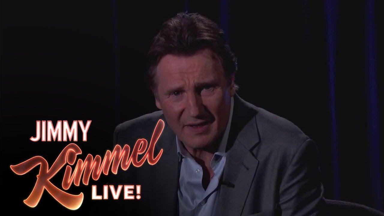 Liam Neeson Threatens a Fan on Jimmy Kimmel Live Liam