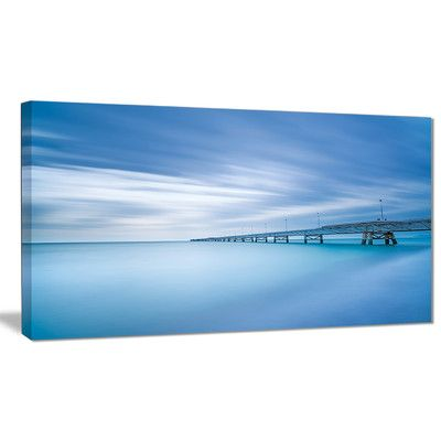 DesignArt 'Industrial Pier' Photographic Print on Wrapped Canvas in Sea Size: