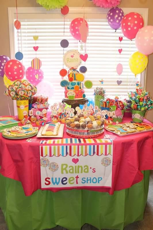 This is my little girls sweet shop 1st bday RAINAS 1ST BDAY