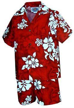 PL 220-3156 Boys Aloha Cabana Set [Red] product photo