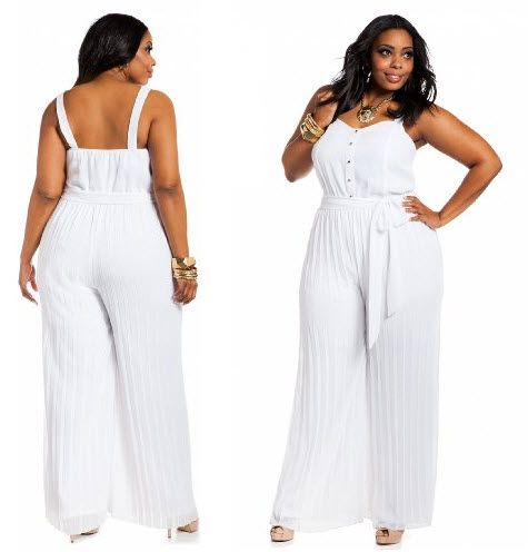 b2f60b4ee20 White Jumpsuits for Women – Plus Size