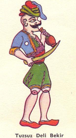 Karagoz Hacivat Oyunu Karakterlerinden Tuzsuz Deli Bekir Golge Oyunu Sanat Kuklalar