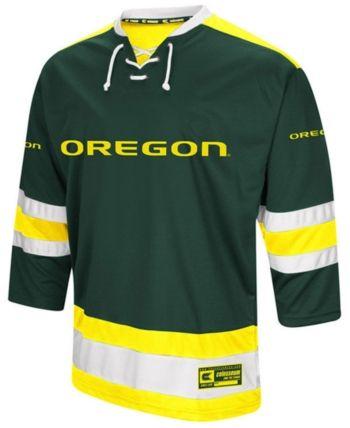 Colosseum Men S Oregon Ducks Fashion Hockey Jersey Green S Oregon Ducks Sports Fan Shop Hockey Jersey