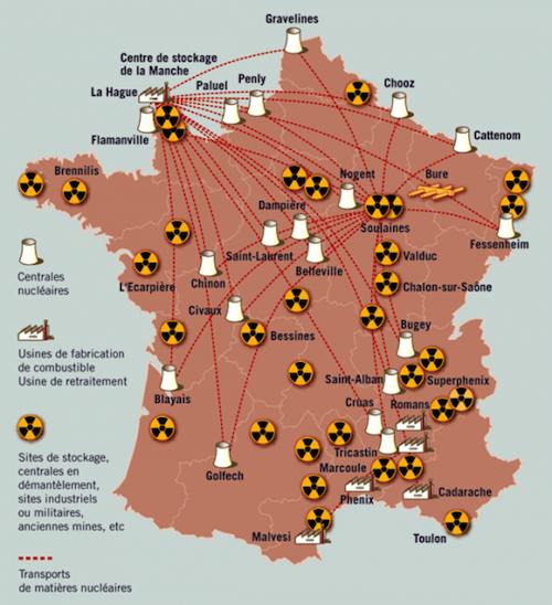 carte-france-nucleaire.png | Centrale nucléaire, Géographie, Carte de france